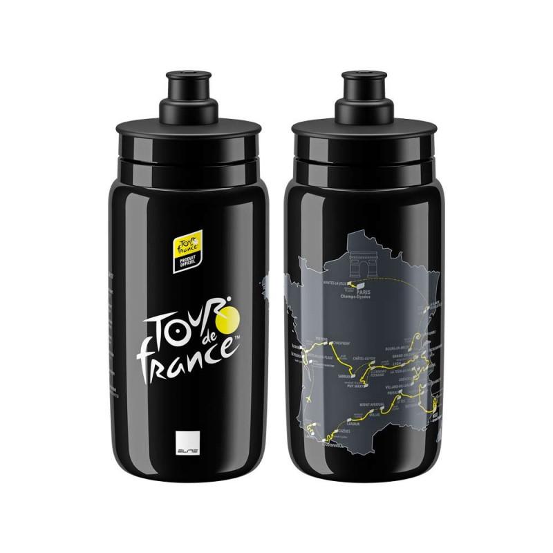 Bidón Tour de Francia 2020 Elite Fly - negro (550 ml)