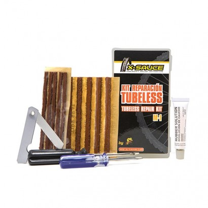 Kit reparacion tubeless X-SAUCE M-1 (Mechas 3,5 y 6 mm)